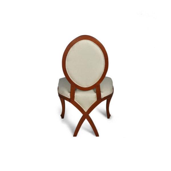 Gavra Upholstered Round Back Dining Chair Back