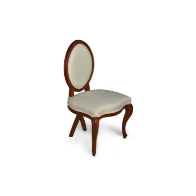 Gavra Upholstered Round Back Dining Chair Side View