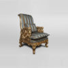 Gilded French Armchair with Hand Carved Wood and Luxury Upholstery 3