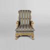 Gilded French Armchair with Hand Carved Wood and Luxury Upholstery 2
