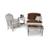 Gilded French Sofa Gray 4