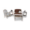 Gilded French Sofa Gray 3