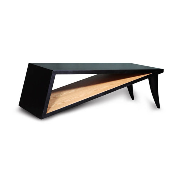 Jayden Black Lacquer Coffee Table Brown