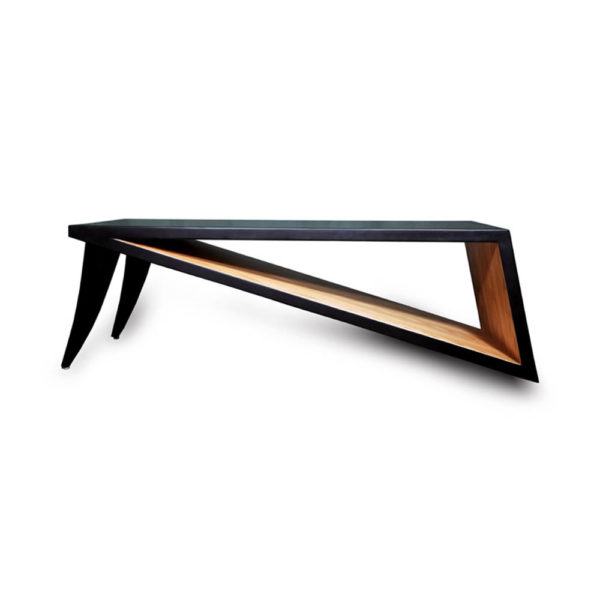 Jayden Black Lacquer Coffee Table Front