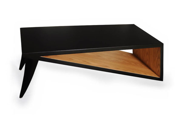 Jayden Black Lacquer Coffee Table Top View