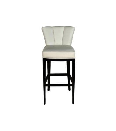 Julij Square Upholstered Bar Stool With Backrest