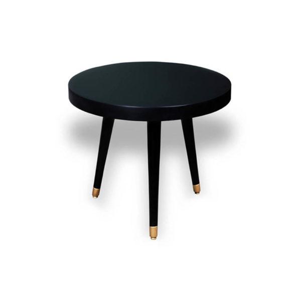 Lucas Round Three Legged Side Table View