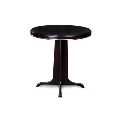 Malte Round Wooden with Gold Frame Side Table