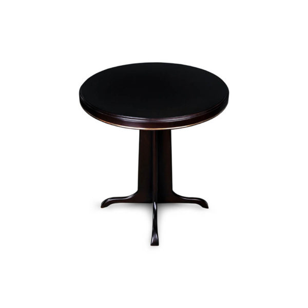 Malte Round Wooden with Gold Frame Side Table Round Top