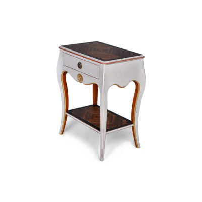Mandarine Louis XV Side Table White