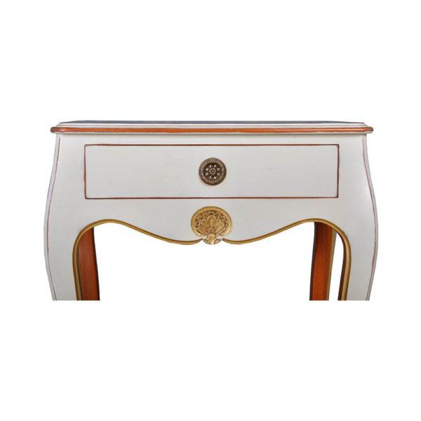 Mandarine Louis XV Side Table White Details