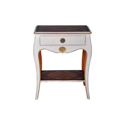 Mandarine Louis XV Side Table White Front