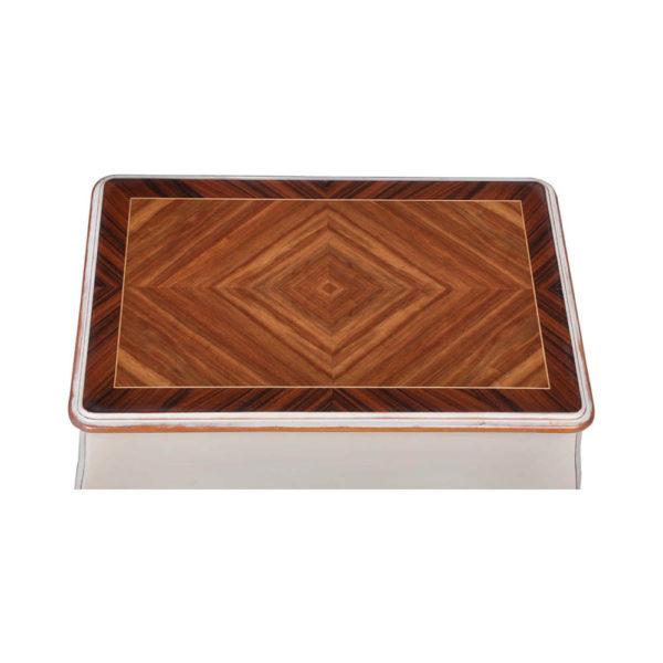 Mandarine Louis XV Side Table White Veneer Top