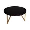 Matheo Round Black Coffee Table with Gold Legs 1