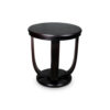 Mathieu Wooden Round Side Table with Curved Leg 1