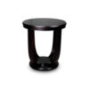 Mathieu Wooden Round Side Table with Curved Leg 2