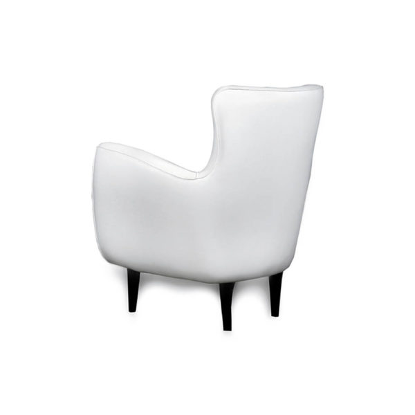 Mathis Upholstered Occasional Arm Chair Back View