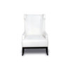 Matias Upholstered Wing Back Armchair with Black Legs 1