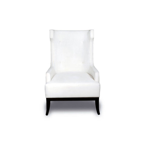 Matias Upholstered Wing Back Armchair with Black Legs
