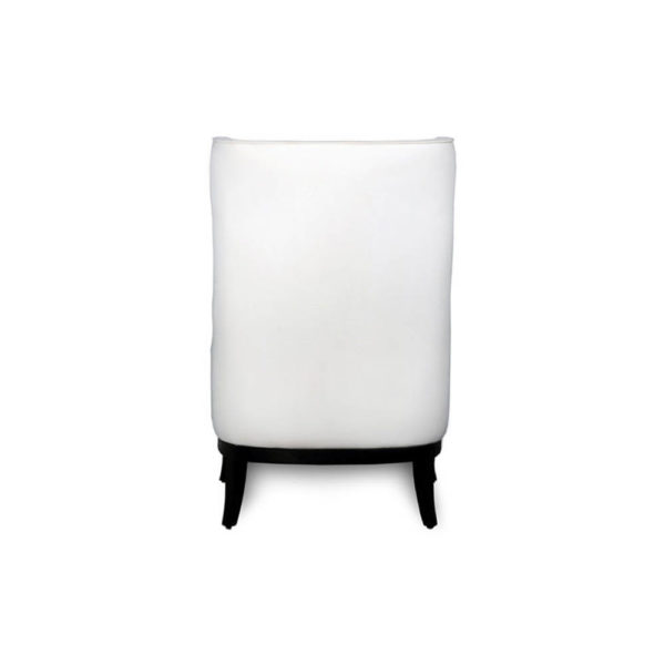 Matias Upholstered Wing Back Armchair with Black Legs Back View