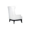 Matias Upholstered Wing Back Armchair with Black Legs 3