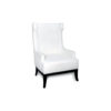Matias Upholstered Wing Back Armchair with Black Legs 2