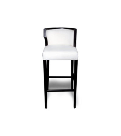 Milo Upholstered Bar Stool with Arms and Curved Back