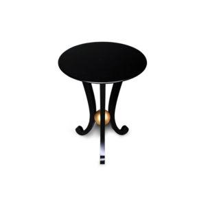 Moritz Circular Black 3 Legged Side Table