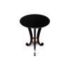 Moritz Circular Black 3 Legged Side Table 1
