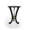 Moritz Circular Black 3 Legged Side Table 3
