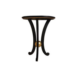 Moritz Circular Black 3 Legged Side Table Round Top
