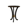 Moritz Circular Black 3 Legged Side Table 2