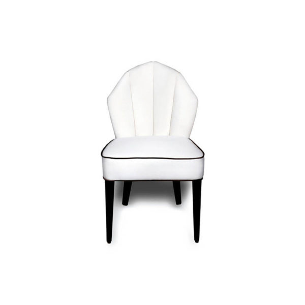 Noa Upholstered Scoop Back Dining Chair