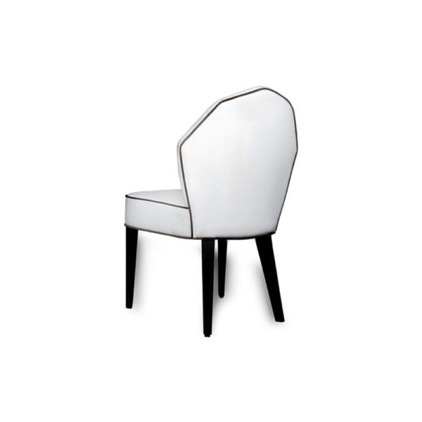 Noa Upholstered Scoop Back Dining Chair Back View