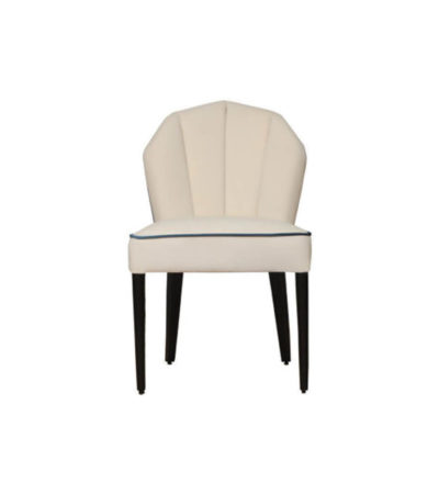 Noa Upholstered Scoop Back Dining Chair Front