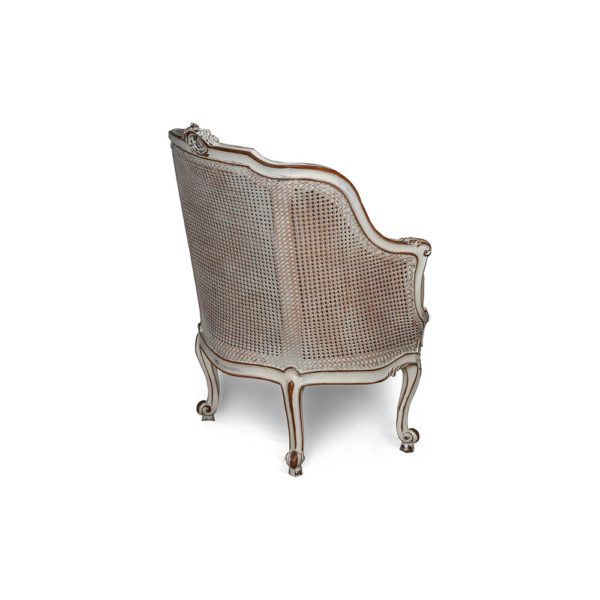 Rattan Back Armchair Plus Seat Cushion Back
