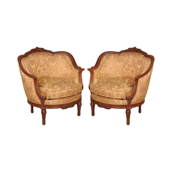 Reproduction French Sofa Chair Set