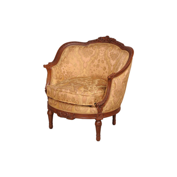 Reproduction French Sofa Chair Side View
