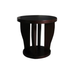 Ruben Brown Round Wood Side Table A