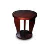 Ruben Brown Round Wood Side Table 3