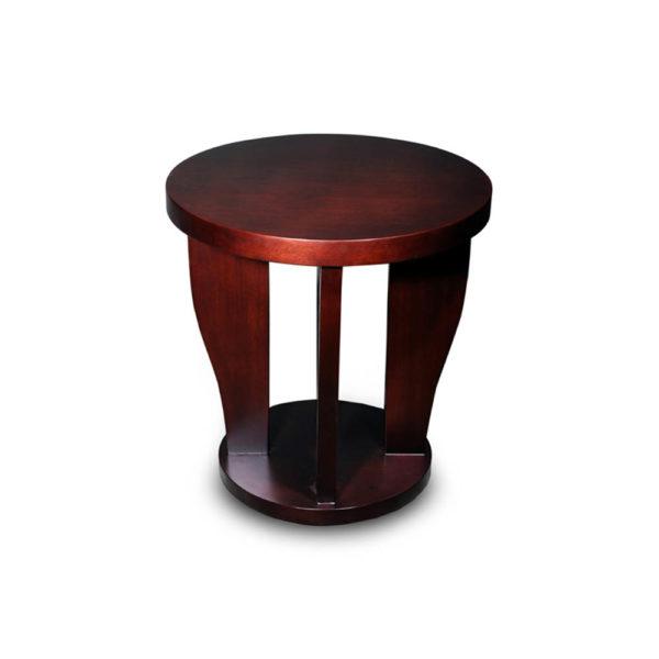 Ruben Brown Round Wood Side Table UK C