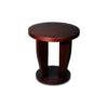 Ruben Brown Round Wood Side Table 2