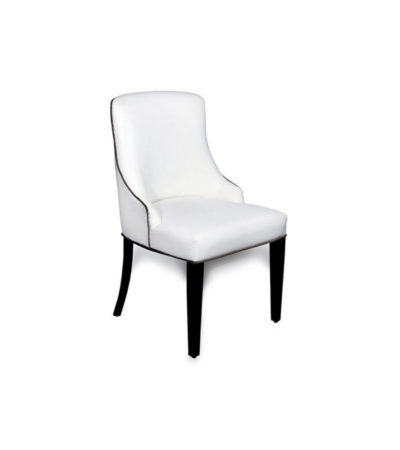 Santino Upholstered Button Back Dining Chair Beside View