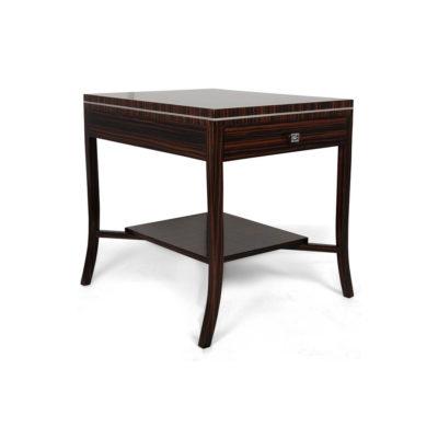 Silvio 1 Drawer Bedside Table with Shelf Veneer