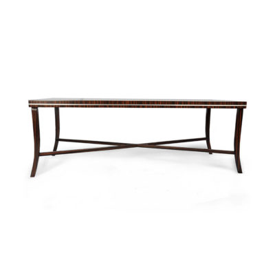 Silvio Rectangular Wooden Coffee Table UK Front