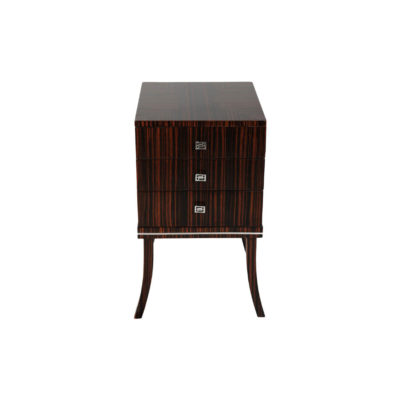 Silvio Three Drawer Bedside Table