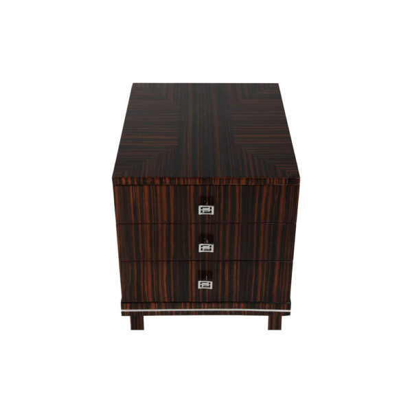 Silvio Three Drawer Bedside Table Top View