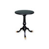 Theo Black Round Wooden Side Table 1