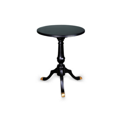 Theo Black Round Wooden Side Table