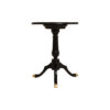 Theo Black Round Wooden Side Table 3